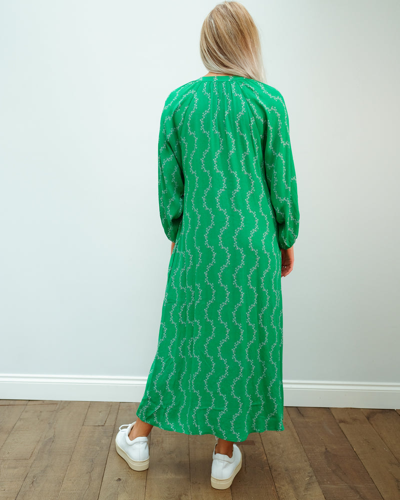 Zion Dress in Garland Green