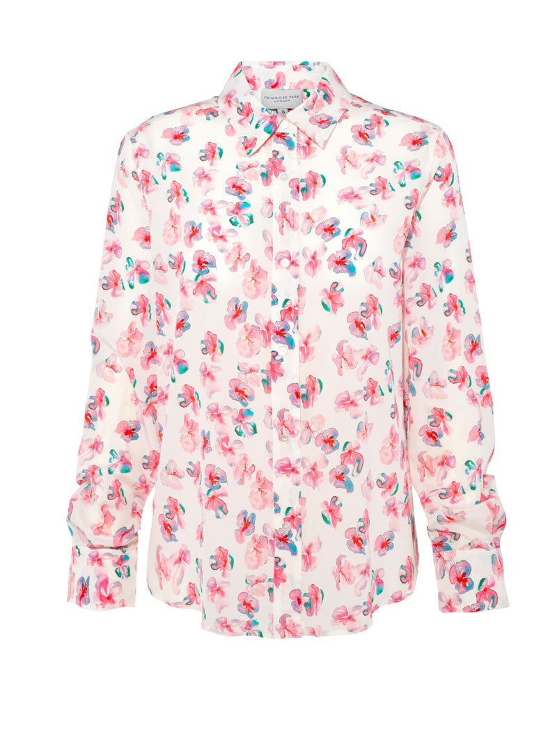 Gail Shirt in Watercolour Pansy 01