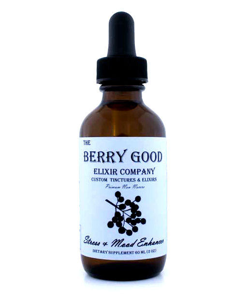 Stress & Mood Enhancer, stress, anxiety, depression, cortisol regulation,  organic herbal tincture, alcohol free tincture