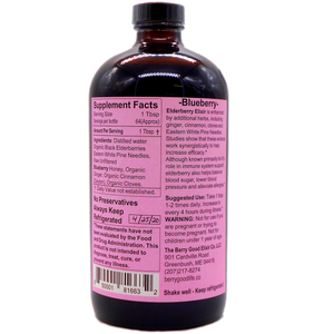 Elderberry Elixir, Best Immune Support, Alcohol Free, Organic Herbal Supplement raw unfiltered honey