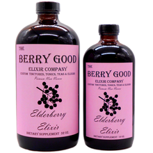 Load image into Gallery viewer, Elderberry Elixir, Best Immune Support, Alcohol Free, Organic Herbal Supplement raw unfiltered honey