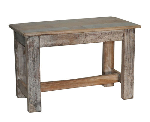 Reclaimed Wood Side Bench