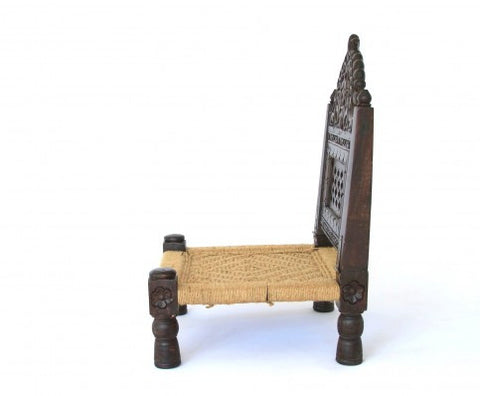 carved wood pidda chair  indian inspired furniture