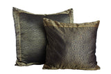 Black Paisley Sari Pillow Cover