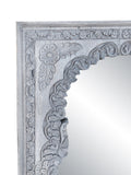 Gray Wood Indian Arched Mirror