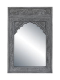 Gray Arch Frame With Mirror