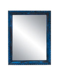 Blue Vintage Wooden Mirror