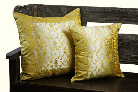 Champagne Kela Sari Pillow Cover