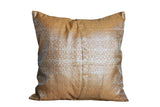 Indian sari pillows Cover Gold Raj Sari