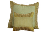 Green Art Silk Pillow Cover