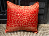 Fire Orange Kela Sari Pillow Cover