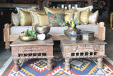 "Indian Carved Jhula Sofa Daybed 40""x80"""