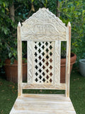 WhiteWash Carved Dining Chair