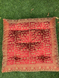 Red Meditation Tufted Cushion