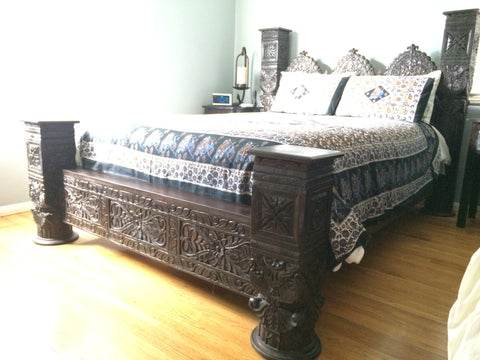 Triple Arch Low Pillar Bed Jhulla Bed