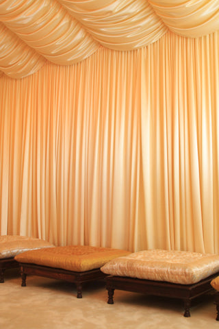 Custom designed drapery available. Free estimates.