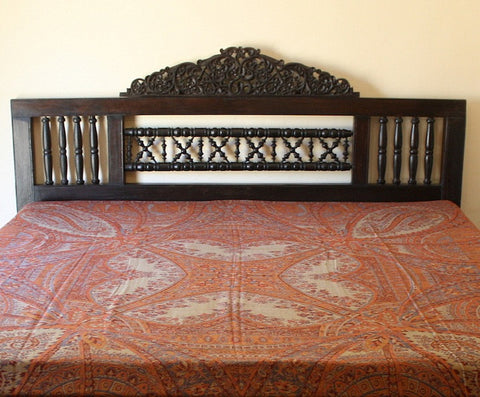 Indian Pashmina Bed Cover