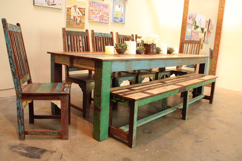 Indian Reclaimed Wood Dining Table