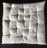 Cream Brocade fabric Chair Cushion