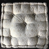 Cream Brocade floor sitting Cushion