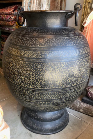 Hand-Hammered and Detailed Brass Pots