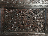 Indian Lotus Hand Carved Canopy Bed/daybed,