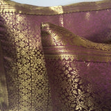 Indian sari pillows Cover Purple Raj