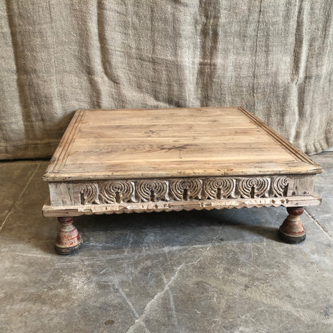 Vintage Carved Wood Bajot