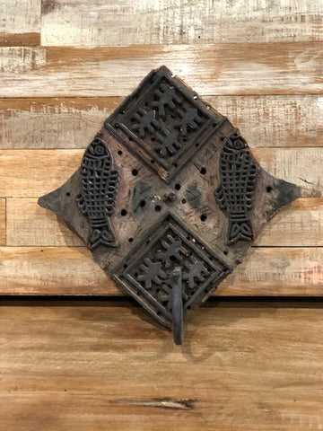 Vintage Batik Ink Block Wall Hook