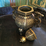 Chinese Brass Hexagonal incense burner