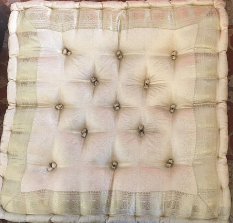 CREAM RAJ MEDITATION TUFTED FLOOR PILLOW
