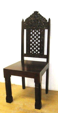 Hand carved dining chair Set of 4