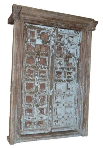 Indian Antique Blue door