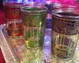 Multi Color Moroccan Tea Glasses