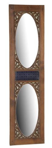 Wood Panel With Mirror