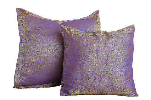 Light purple Paisley Sari Pillow Cover