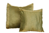 Olive Green Paisley Pillow Cover