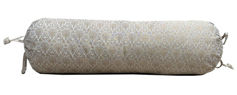 Cream Brocade Bolster