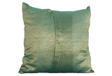 Sea Green Paisley Sari Pillow Cover