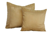 Tan Art Silk Pillow Cover