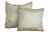 Indian sari pillows Cover White Raj Sari