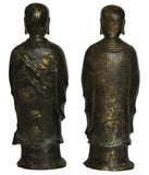 Standing Brass Luhan monks