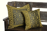 Black Kela Sari Pillow Cover