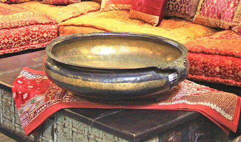 Carved Brass Bowl ( Urli )