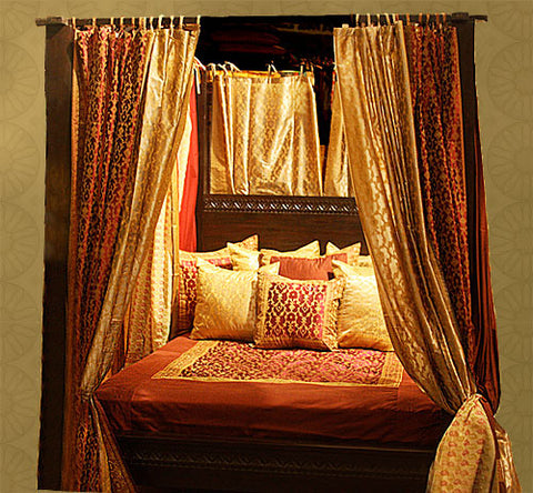 ... Indian Four Poster Canopy Bed ... & Indian Mediterranean and Spanish style Canopy Bed - Tara Design