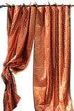 Indian Sari Fabric Copper  Curtain Kela