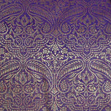Dark Purple Paisley Sari Pillow Cover