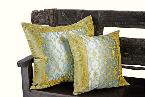 Gray Kela Sari Pillow Cover