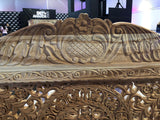 Indian Lotus Hand Carved Daybed