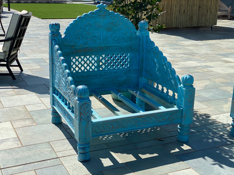 "Turquoise Single arch Jhula Seating 30"" x 30"""